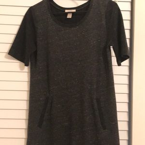 XS Gray short sleeve dress from Loft